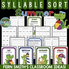 Summer Beach Syllable Sort Center Game for Common Core