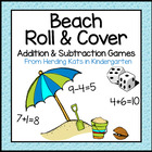 Summer Beach Themed Roll &amp; Cover Addition &amp; Subtraction Games!