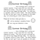 Summer Birthdays Letter