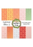 Summer Bliss Set 2  Digital Papers 12x12 PNG {Personal and