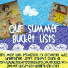 Summer Bucket List Hallway Display Signs {FREE}