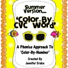 Summer 'Color By CVC Word' ~A Phonics Approach To Color-By