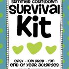 Summer Countdown Survival Kit {End of Year Activities)