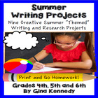 Summer Differentiated Writing Enrichment Menu (Common Core