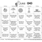 Summer Early Literacy Calendar June-July