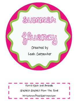 Summer Fluency Sample