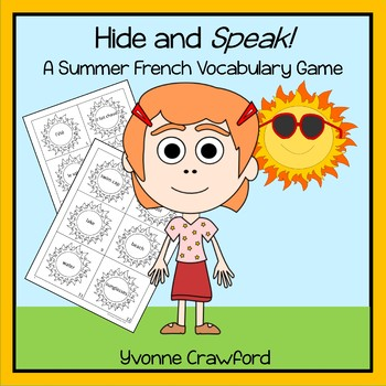 Summer French Vocabulary - Hide and Speak Game