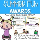 Summer Fun Awards {End of Year Awards to Celebrate Hard Wo