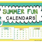 Summer Fun Calendars: FREEBIE!