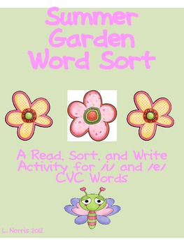 Summer Garden Short e and i Read Sort Write Activity