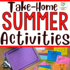 Summer Homework Activities For Your Students