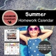 Summer Homework Calendar