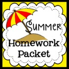 Summer Homework Packet