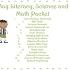 Summer Literacy,Math,& Science Center Packet {14 Centers +