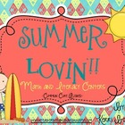 Summer Lovin&#039;! Math and Literacy Centers (Common Core Aligned)