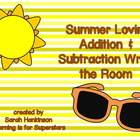 Summer Lovin' Write the Room {addition & subtraction}