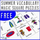 Summer Magic Square Puzzles FREEBIE