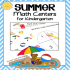 Summer Math Centers for Kindergarten