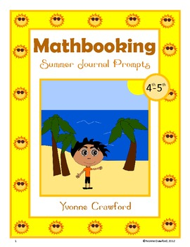 Summer Mathbooking - Math Journal Prompts (4th and 5th grade)