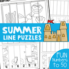Summer Number Line Puzzles - Numbers to 30 Cut and Paste