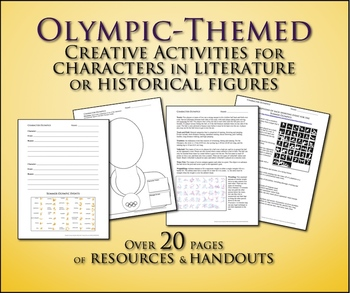 Summer Olympics Literature or Historical Figure Lesson Activity