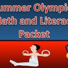 Summer Olympics Math and ELA Worksheet Packet with Keys