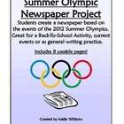 Summer Olympics Newspaper Project