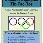 Summer Olympics Tic-Tac-Toe (A Choice Activity Board)