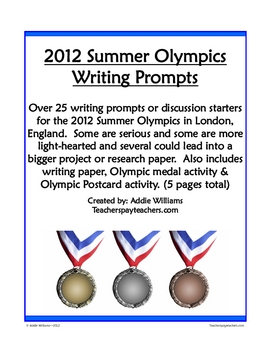 Summer Olympics Writing Prompts and More!