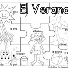 Summer Puzzle Freebie {Spanish}