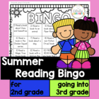 Summer Reading Bingo for Second Grade going to Third Grade