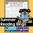 Summer Reading Bingo for Third Grade Going to Fourth Grade