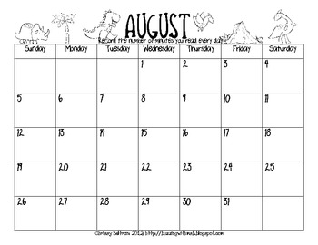 Summer Reading Calendar Log Freebie