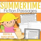 Summer Reading Comprehension Pack