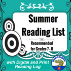 Summer Reading List Grade 7 - 8
