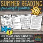 Summer Reading Packet for Rising First Graders
