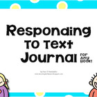 Summer Reading Response Journal - Blooms Revised + Common Core