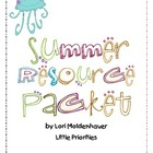 Summer Resources for Parents Packets