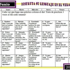 Summer SLP activity calendars 2013 Spanish