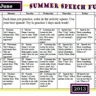 Summer SLP activity calendars 2013