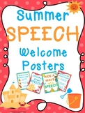 Summer SPEECH Welcome Posters FREEBIE