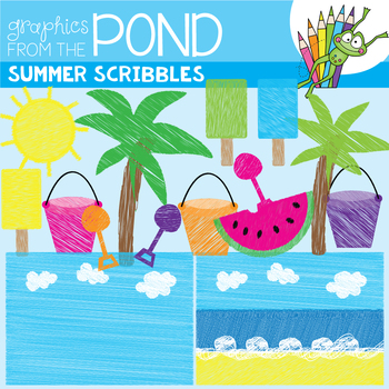 Summer Scribbles - FREE Thank You 1000 Graphics!