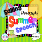 Summer Speech Freebie: Gardening