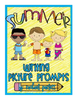 Summer-Themes Picture Writing Prompts with Writing Templates