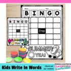 Summer Time Bingo Board