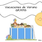 Summer Vacation Spanish (OK For Dual Language) FREEBIE!