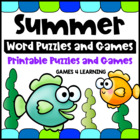 Summer by the Sea Word Puzzles