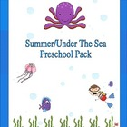 Summer/Under The Sea Preschool Pack