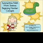 Summertime Math Work Stations FREE Beg. Number Concepts