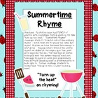 Summertime Rhyme {Word Sort}